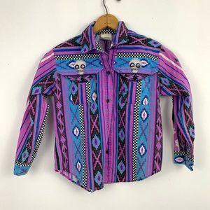 Western style long sleeve button up shirt, unisex